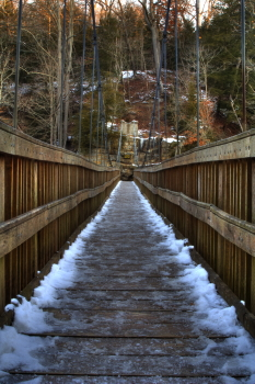 Captured Solitude - Turkey Run State Park - Suspension Bridge